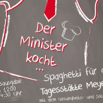 Der Minister kocht… Spaghetti für die Tagesstätte in Meyerode