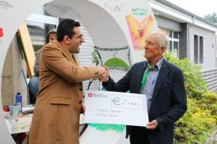 Scheckübergabe des Belfius-Fonds an das Dorfhaus Eynatten